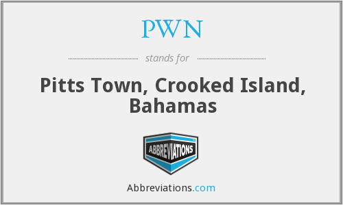 PWN - Pitts Town, Crooked Island, Bahamas