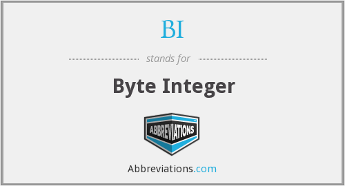 BI - Byte Integer