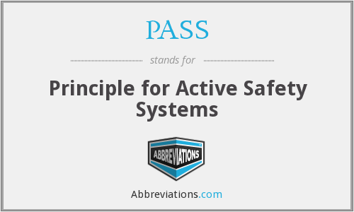 PASS - Principle for Active Safety Systems