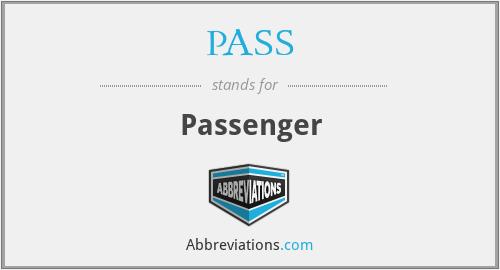 PASS - Passenger