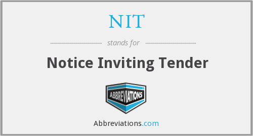 NIT - Notice Inviting Tender