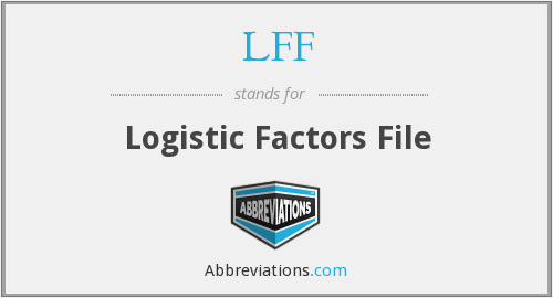 LFF - Logistic Factors File
