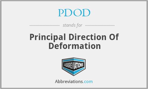 PDOD - Principal Direction Of Deformation