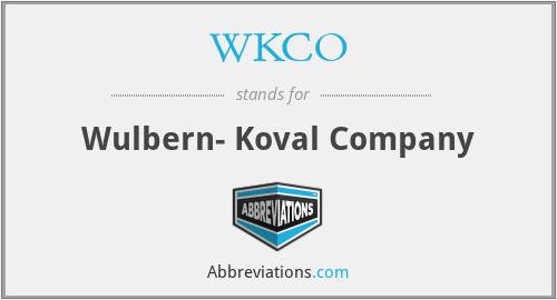 WKCO - Wulbern- Koval Company