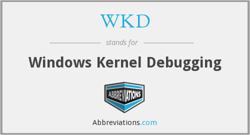 WKD - Windows Kernel Debugging