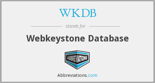 WKDB - Webkeystone Database