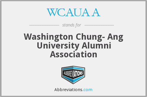 WCAUAA - Washington Chung- Ang University Alumni Association