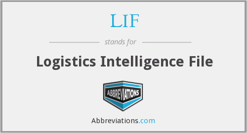 LIF - Logistics Intelligence File