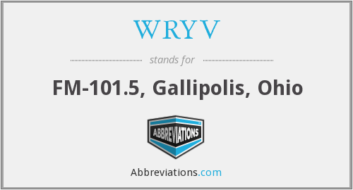 WRYV - FM-101.5, Gallipolis, Ohio