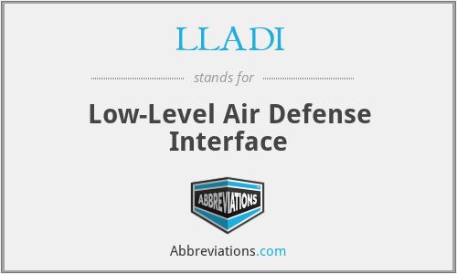 LLADI - Low-Level Air Defense Interface