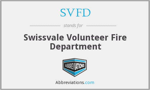 What does SVFD stand for?