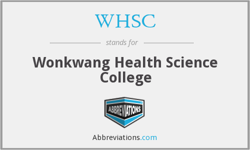 WHSC - Wonkwang Health Science College