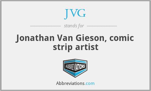 JVG - Jonathan Van Gieson, comic strip artist