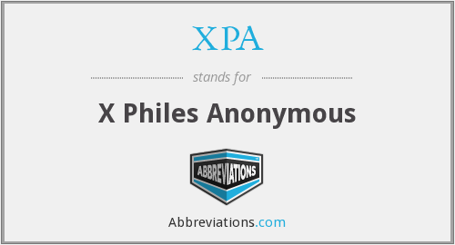 What does X PA stand for?
