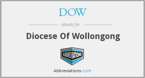 DOW - Diocese Of Wollongong