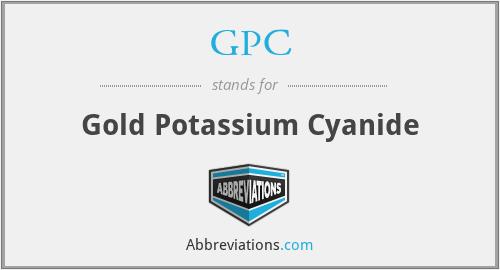 GPC - Gold Potassium Cyanide