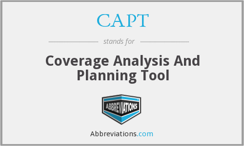 CAPT - Coverage Analysis And Planning Tool