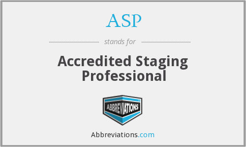 ASP - Accredited Staging Professional