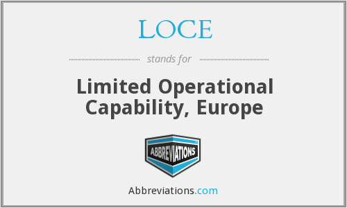 What does LOCE stand for?