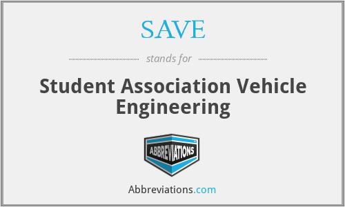 SAVE - Student Association Vehicle Engineering