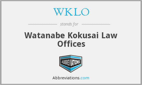 What does WKLO stand for?