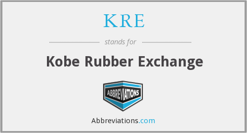 What does KRE stand for?