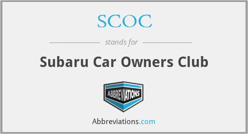 SCOC - Subaru Car Owners Club
