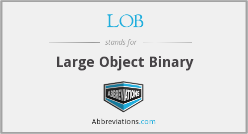 LOB - Large Object Binary