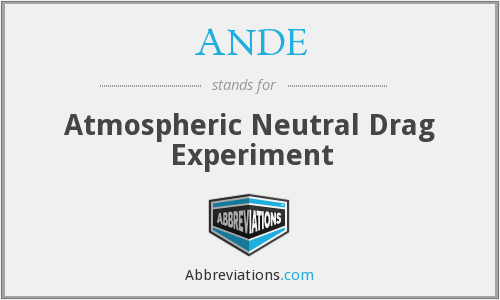 ANDE - Atmospheric Neutral Drag Experiment