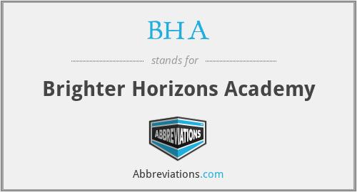 BHA - Brighter Horizons Academy