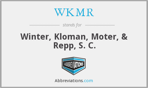 What does WKMR stand for?