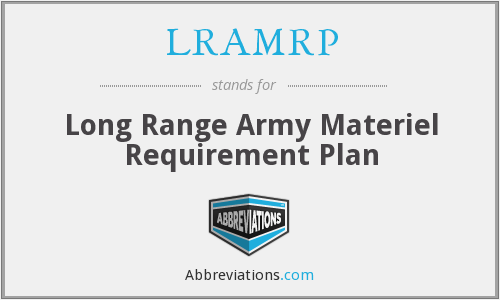 What does LRAMRP stand for?