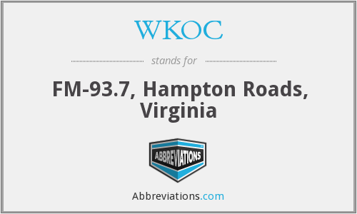WKOC - FM-93.7, Hampton Roads, Virginia