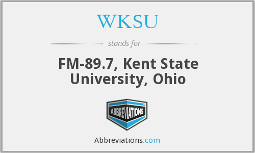 What does WKSU stand for?