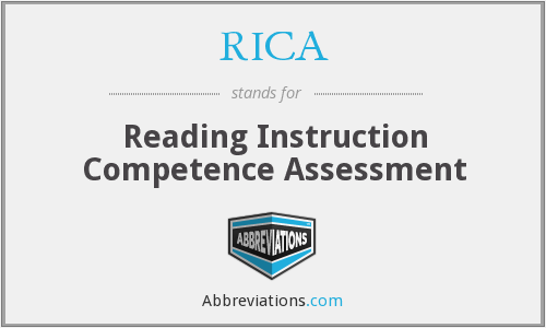 RICA - Reading Instruction Competence Assessment