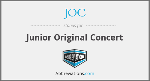 JOC - Junior Original Concert
