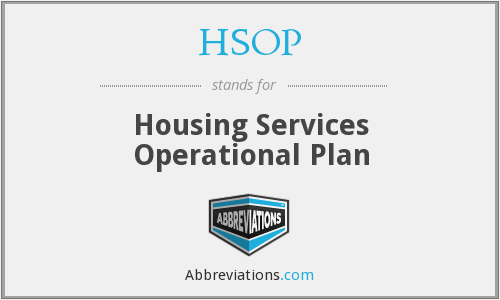HSOP - Housing Services Operational Plan