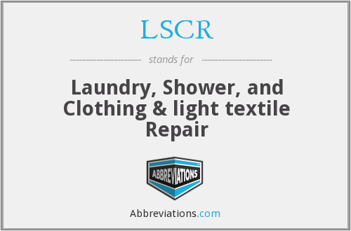LSCR - Laundry, Shower, and Clothing & Light Textile Repair