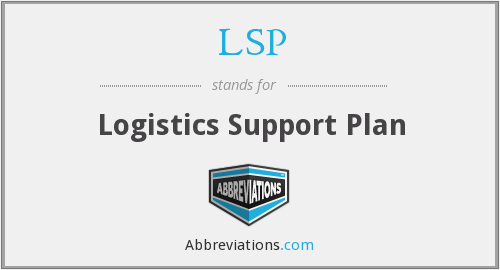 LSP - Logistics Support Plan