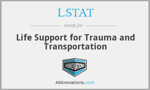 LSTAT - Life Support for Trauma and Transportation