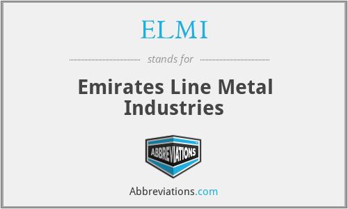 ELMI - Emirates Line Metal Industries