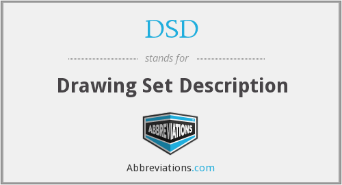DSD - Drawing Set Description