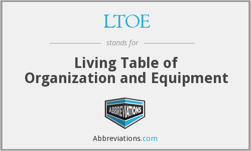 What does LTOE stand for?