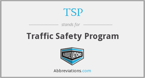 TSP - Traffic Safety Program