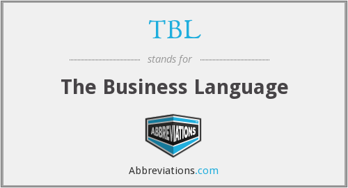 TBL - The Business Language