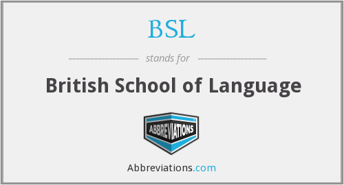 BSL - British School of Language