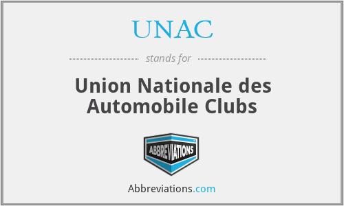UNAC - Union Nationale des Automobile Clubs