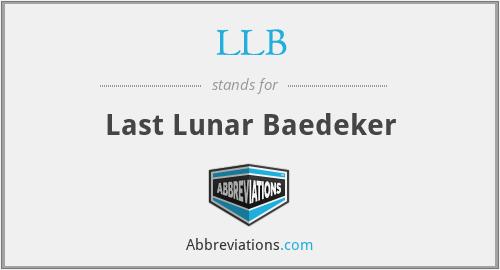 LLB - Last Lunar Baedeker