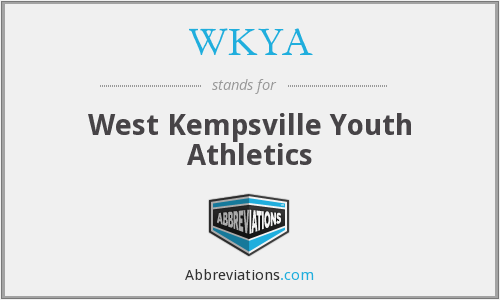WKYA - West Kempsville Youth Athletics