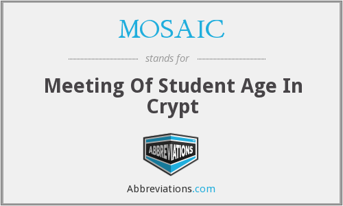 MOSAIC - Meeting Of Student Age In Crypt